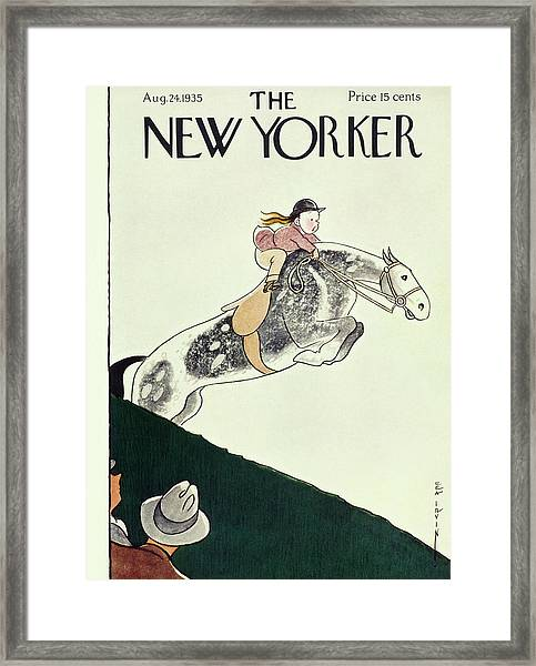 New Yorker August 24 1935 Framed Print