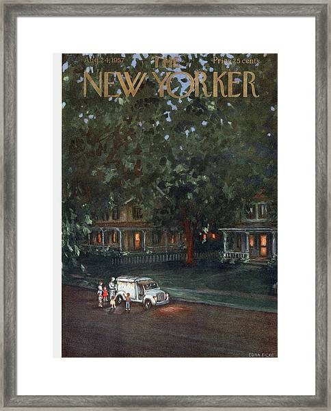 New Yorker August 24th, 1957 Framed Print
