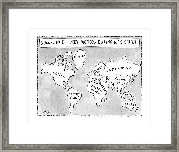 New Yorker August 25th, 1997 Framed Print