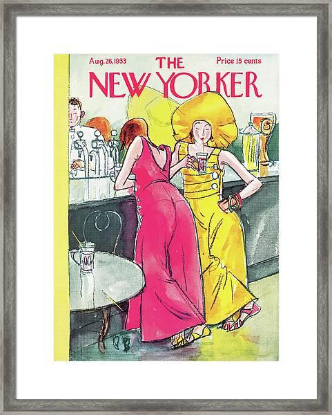 New Yorker August 26th, 1933 Framed Print