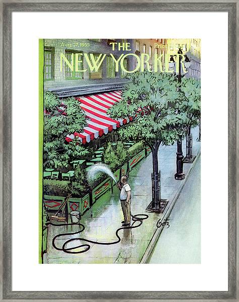 New Yorker August 27th, 1955 Framed Print