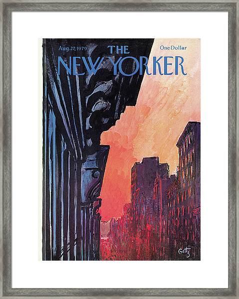 New Yorker August 27th, 1979 Framed Print