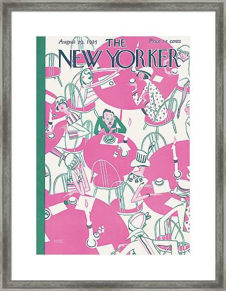 New Yorker August 29th, 1925 Framed Print
