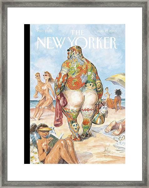 New Yorker August 29th, 2005 Framed Print