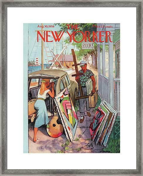 New Yorker August 30th, 1958 Framed Print