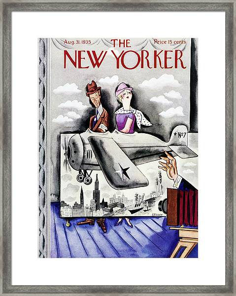 New Yorker August 31 1935 Framed Print by Harry Brown