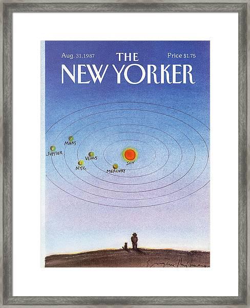 New Yorker August 31st, 1987 Framed Print