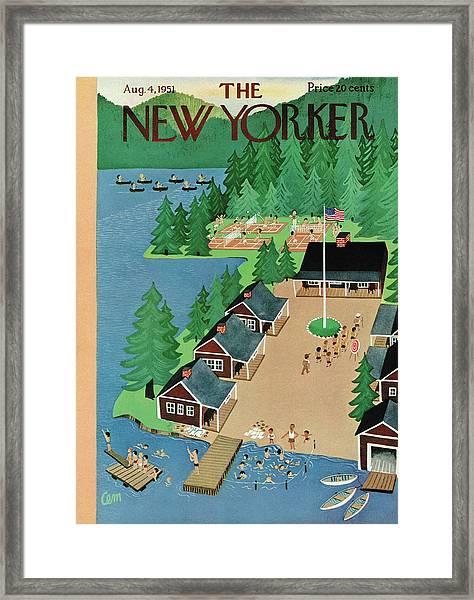 New Yorker August 4th, 1951 Framed Print