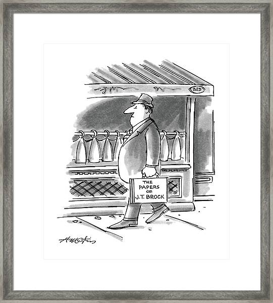 New Yorker August 4th, 1986 Framed Print