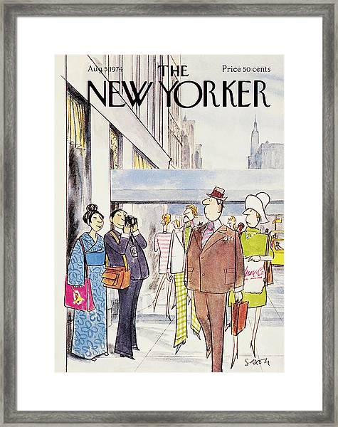 New Yorker August 5th, 1974 Framed Print by Charles Saxon