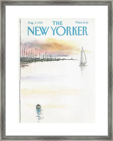New Yorker August 5th, 1985 Framed Print