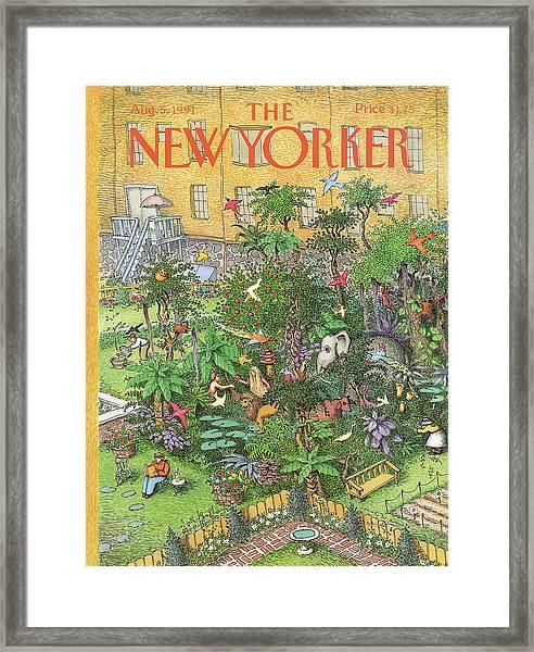 New Yorker August 5th, 1991 Framed Print
