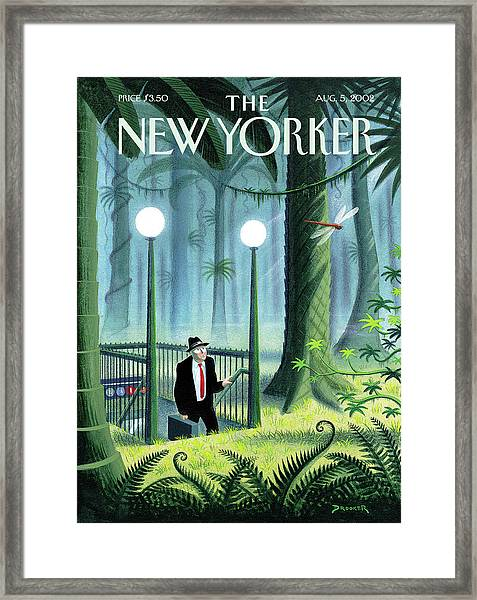 New Yorker August 5th, 2002 Framed Print by Eric Drooker