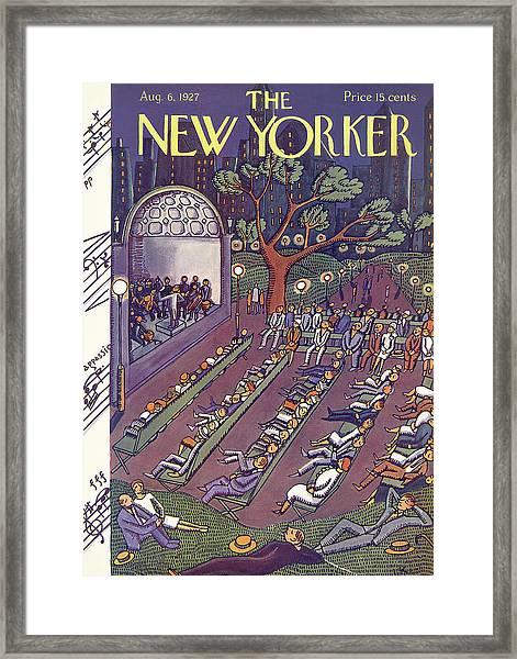 New Yorker August 6th, 1927 Framed Print