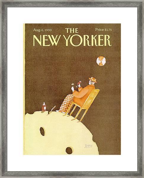 New Yorker August 6th, 1990 Framed Print