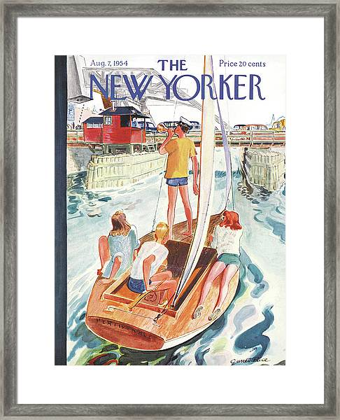New Yorker August 7th, 1954 Framed Print