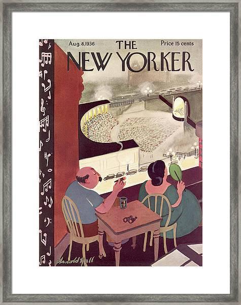 New Yorker August 8th, 1936 Framed Print