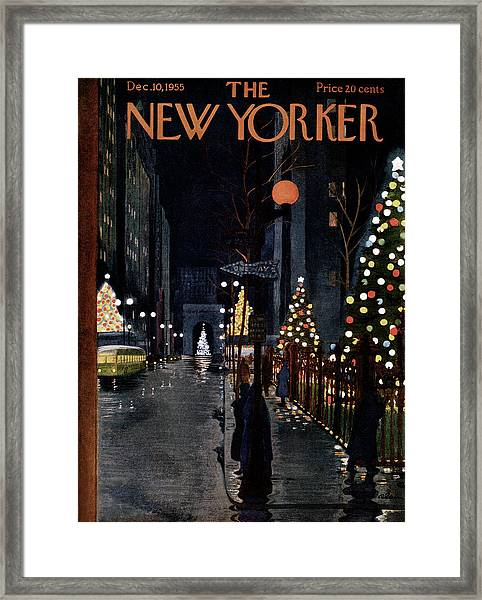New Yorker December 10th, 1955 Framed Print