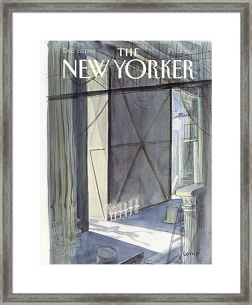 New Yorker December 12th, 1988 Framed Print