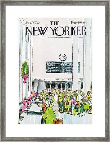 New Yorker December 16th, 1974 Framed Print