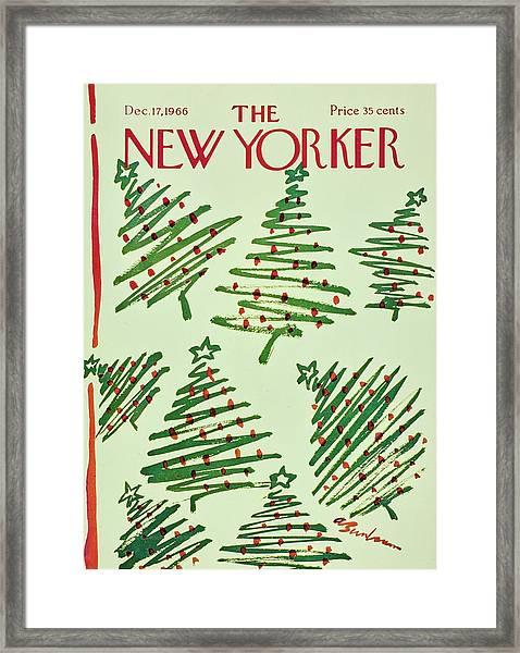 New Yorker December 17th 1966 Framed Print by Aaron Birnbaum