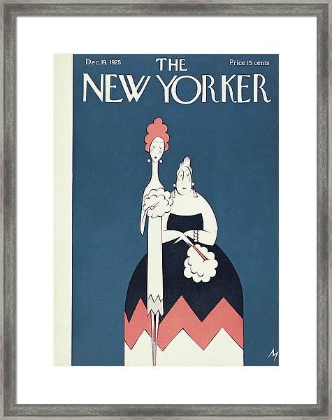 New Yorker December 19th, 1925 Framed Print