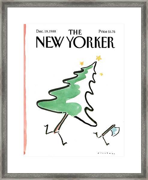 New Yorker December 19th, 1988 Framed Print