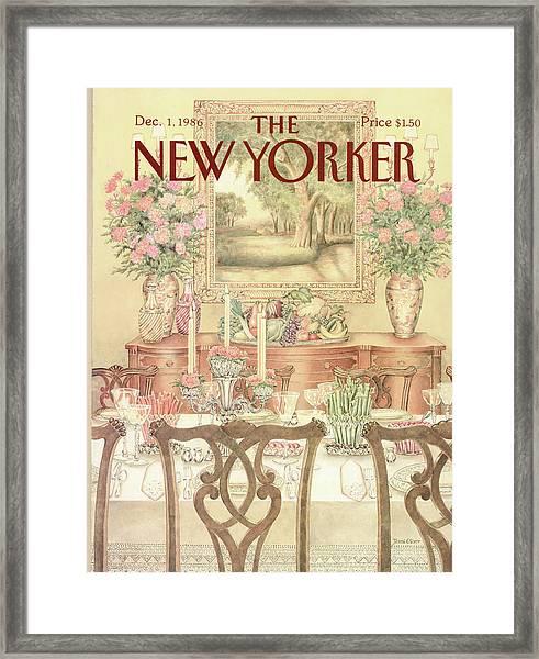 New Yorker December 1st, 1986 Framed Print