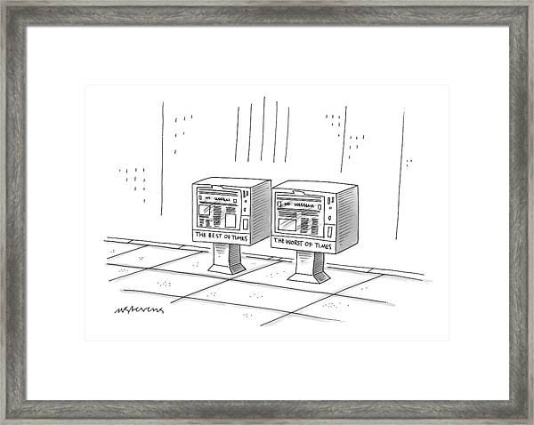 New Yorker December 22nd, 1997 Framed Print