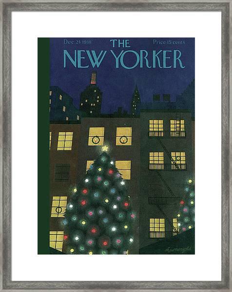 New Yorker December 24th, 1938 Framed Print