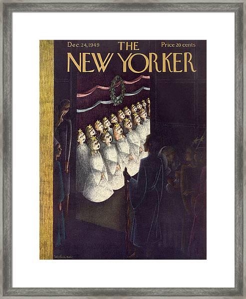 New Yorker December 24th, 1949 Framed Print