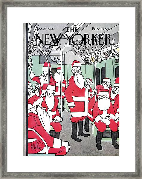 New Yorker December 25th, 1965 Framed Print