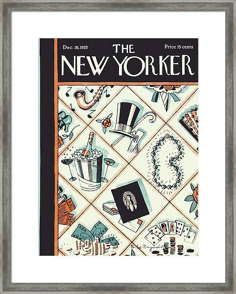 New Yorker December 26 1925 Framed Print