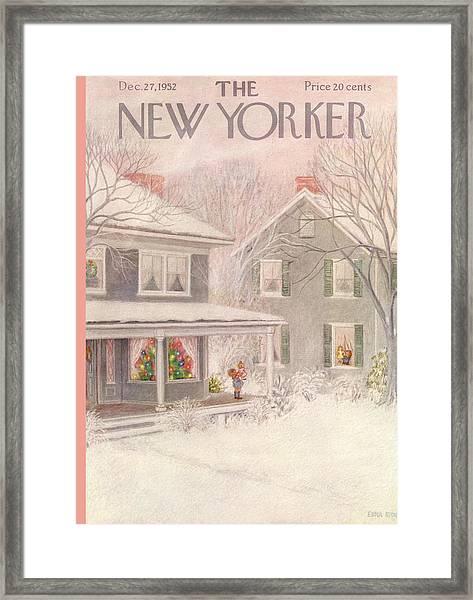 New Yorker December 27th, 1952 Framed Print