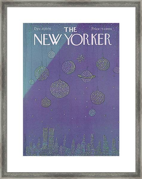 New Yorker December 27th, 1976 Framed Print