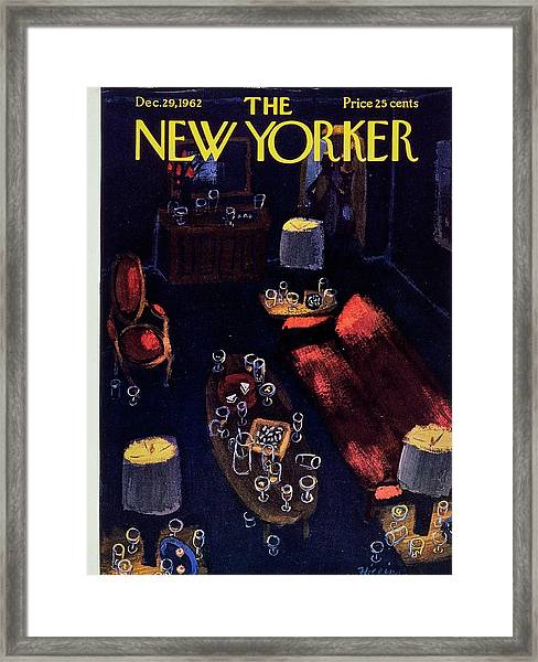 New Yorker December 29th 1962 Framed Print by Donald Higgins