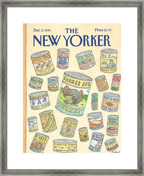 New Yorker December 2nd, 1991 Framed Print