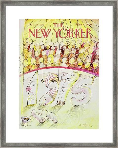 New Yorker December 30th 1974 Framed Print