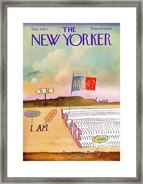 New Yorker December 4th, 1971 Framed Print