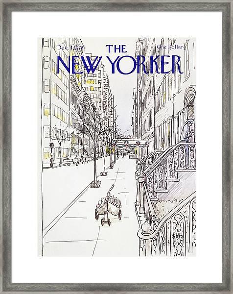 New Yorker December 4th 1978 Framed Print by Arthur Getz