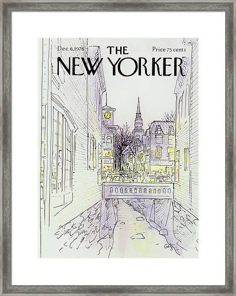 New Yorker December 6th 1976 Framed Print by Arthur Getz