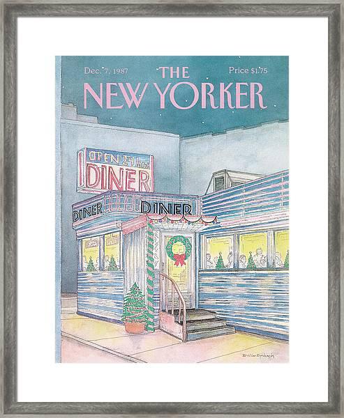 New Yorker December 7th, 1987 Framed Print
