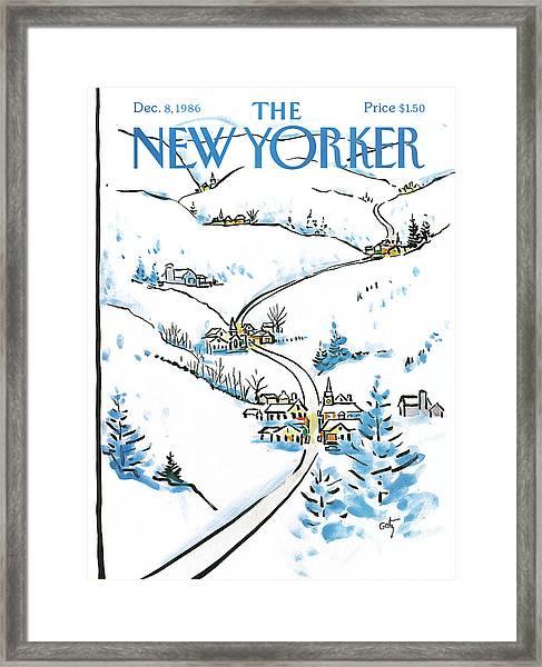New Yorker December 8th, 1986 Framed Print
