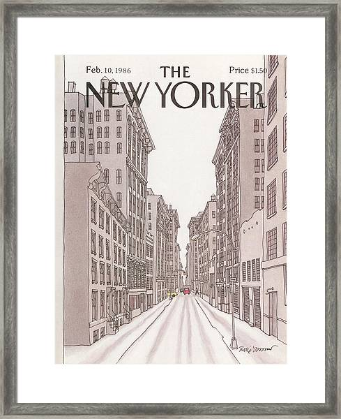 New Yorker February 10th, 1986 Framed Print