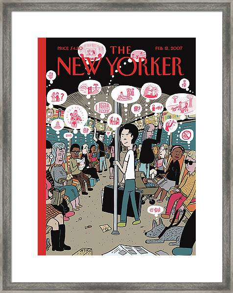 New Yorker February 12th, 2007 Framed Print