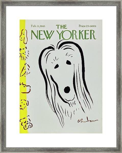 New Yorker February 13th 1965 Framed Print by Aaron Birnbaum