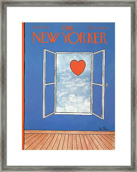 New Yorker February 14th, 1970 Framed Print