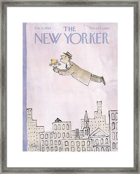 New Yorker February 15th, 1964 Framed Print