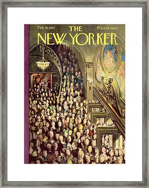 New Yorker February 16th, 1957 Framed Print