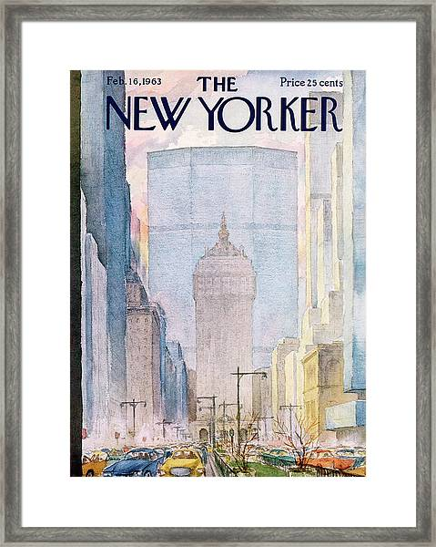 New Yorker February 16th, 1963 Framed Print